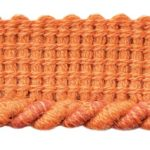 Spiral Cordwelt shown in the Red Coralcolor option.