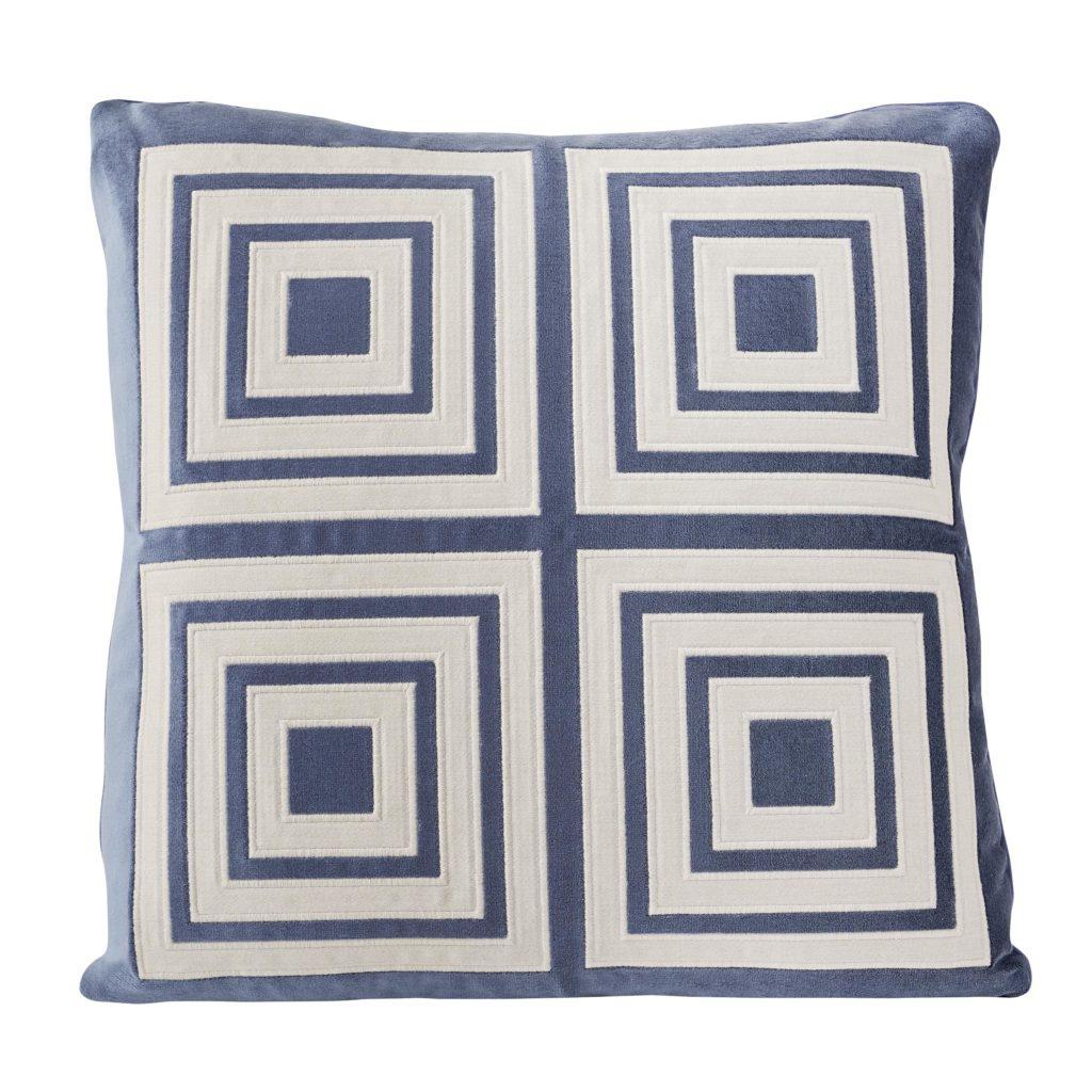 Fair & Square Pillow in Slate