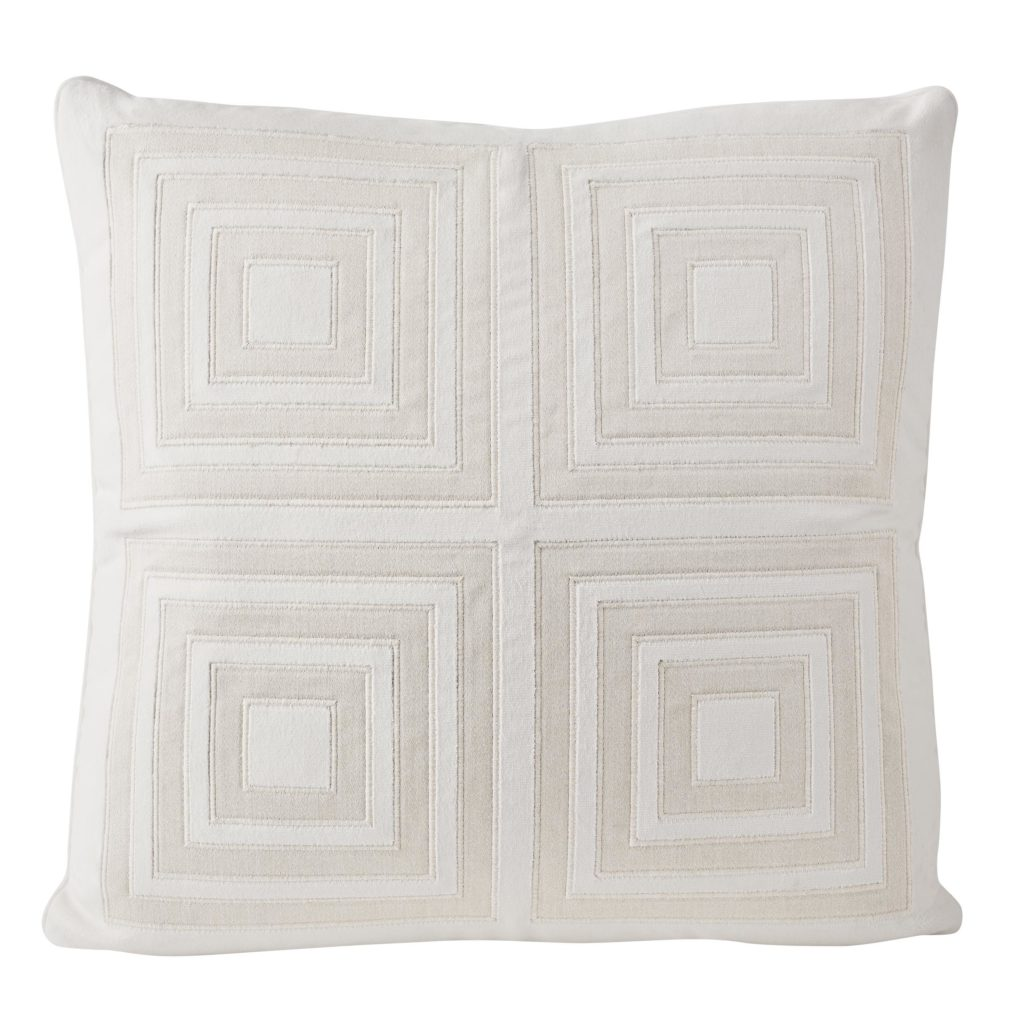 Fair & Square Pillow in Blanca